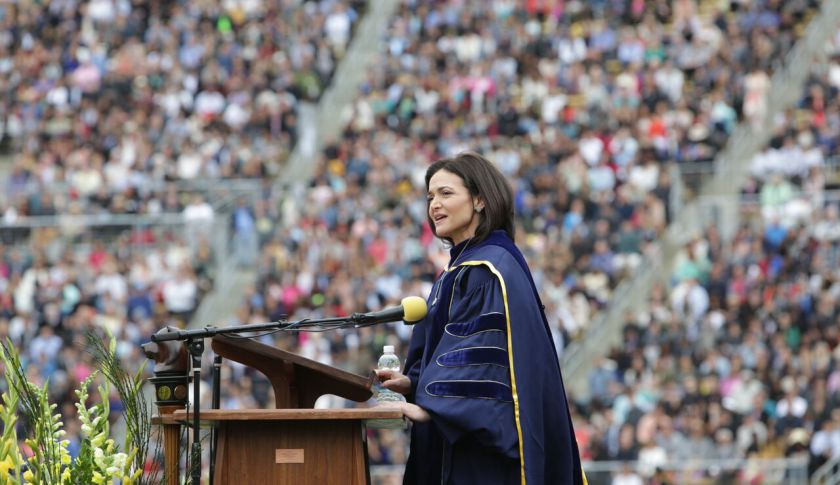 Sheryl Sandberg speaks